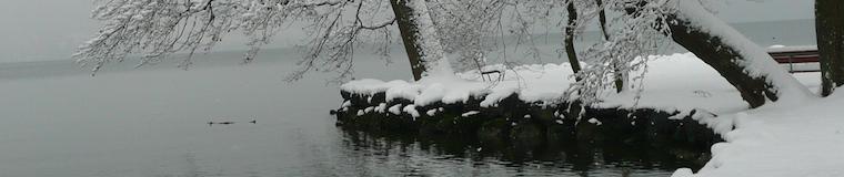 Der verschneite Villette-Park